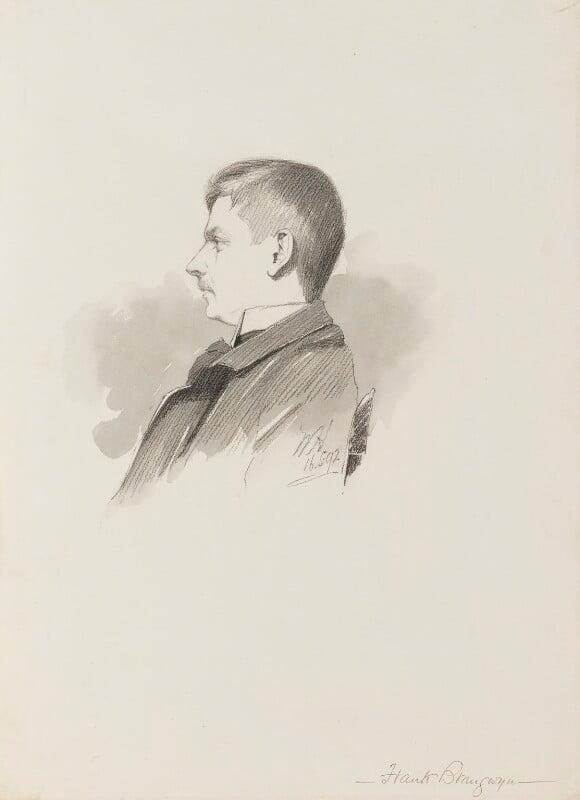 Sir Frank Brangwyn, by Walker Hodgson, 1892 - NPG 4041(5) - © National Portrait Gallery, London
