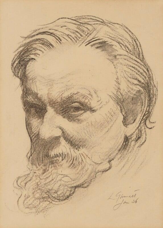 Sir Frank Brangwyn, by Louis Ginnett, 1936 - NPG 5194 - © National Portrait Gallery, London