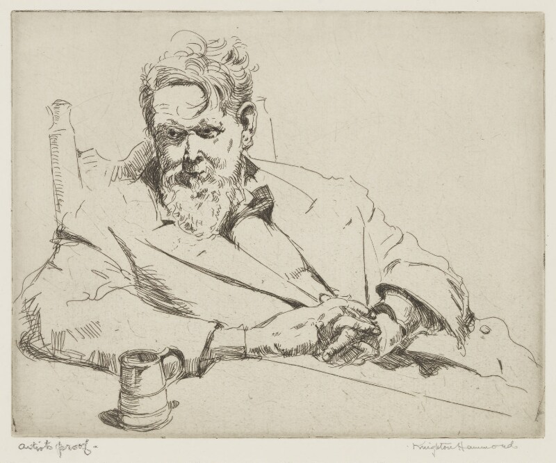 Sir Frank Brangwyn, by Arthur Henry Knighton-Hammond, 1939 - NPG 4373 - © estate of Arthur Henry Knighton-Hammond / National Portrait Gallery, London