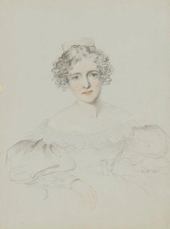 Anna Eliza Bray (née Kempe), by William Brockedon, 1834 - NPG 2515(71) - © National Portrait Gallery, London