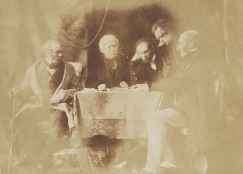 Free Church Committee, by David Octavius Hill, and  Robert Adamson, 1843-1848 - NPG P6(104) - © National Portrait Gallery, London