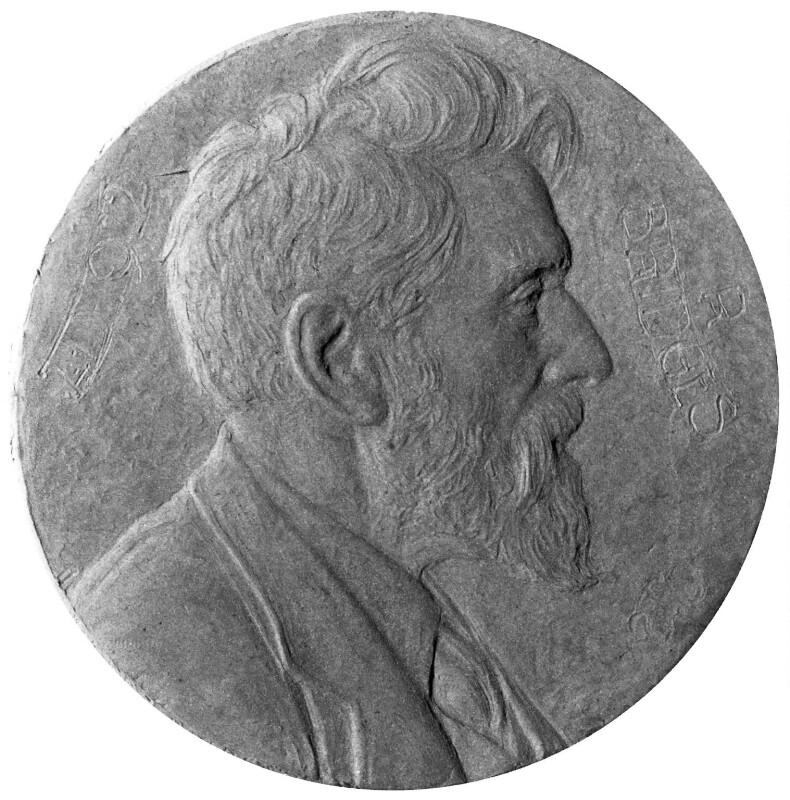 Robert Bridges, by Theodore Spicer-Simson, 1922 - NPG 2044 - Photograph © National Portrait Gallery, London