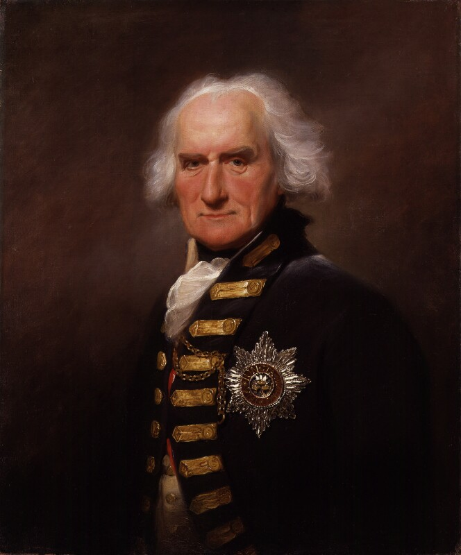 Alexander Hood, 1st Viscount Bridport, by Lemuel Francis Abbott, 1795 - NPG 138 - © National Portrait Gallery, London