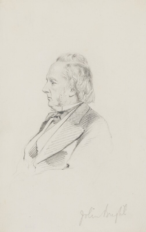John Bright, by Frederick Sargent, 1860s or 1870s? - NPG 3808 - © National Portrait Gallery, London
