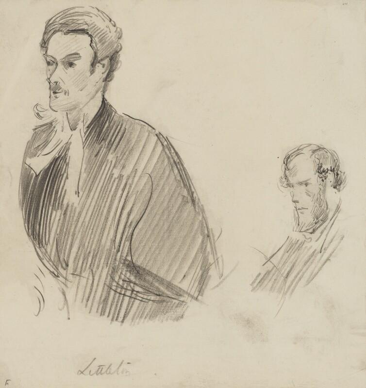 William Francis Littleton; Hon. George Charles Brodrick, by Sydney Prior Hall, 1888-1889 - NPG 2271 - © National Portrait Gallery, London