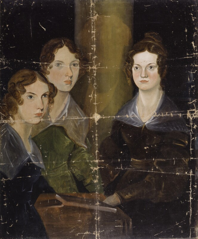The Brontë Sisters (Anne Brontë; Emily Brontë; Charlotte Brontë), by Patrick Branwell Brontë, circa 1834 -NPG 1725 - © National Portrait Gallery, London