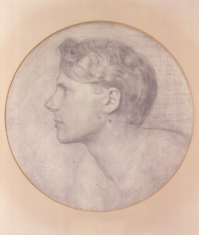Rupert Brooke, by James Havard Thomas, after a photograph by  Sherrill Schell, based on a work of 1913 - NPG 2448 - © reserved; collection National Portrait Gallery, London