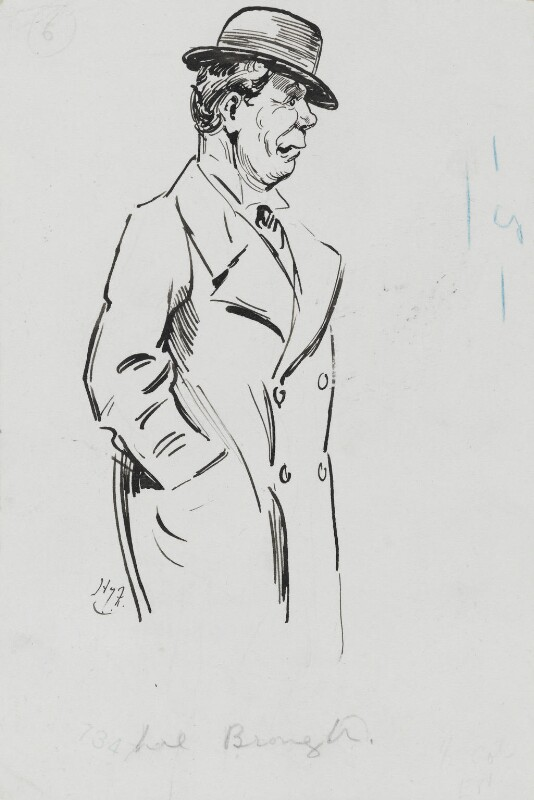 Lionel Brough, by Harry Furniss, circa 1917 -NPG 3556 - © National Portrait Gallery, London