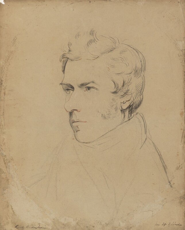 Henry Brougham, 1st Baron Brougham and Vaux, by James Lonsdale, circa 1821 - NPG 5038 - © National Portrait Gallery, London