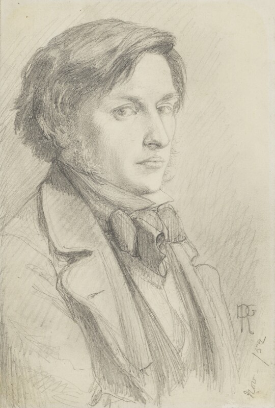 Ford Madox Brown, by Dante Gabriel Rossetti, 1852 - NPG 1021 - © National Portrait Gallery, London