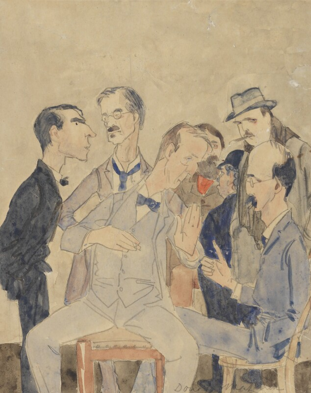 Some members of the New English Art Club, by Donald Graeme MacLaren, circa 1910-1914 - NPG 2663 - © National Portrait Gallery, London