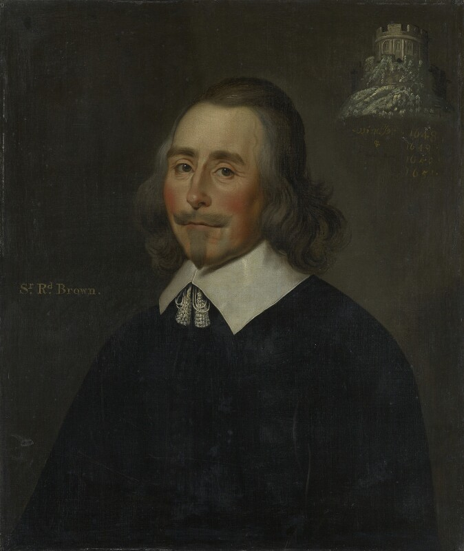 Sir Richard Browne, 1st Bt, by Unknown artist, after 1648 - NPG 2109 - © National Portrait Gallery, London