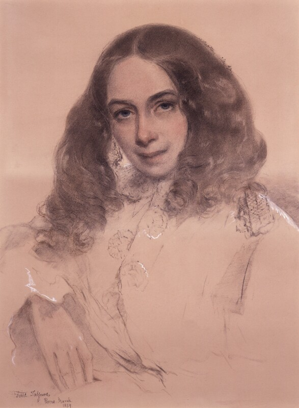 Elizabeth Barrett Browning, by Field Talfourd, 1859 - NPG 322 - © National Portrait Gallery, London