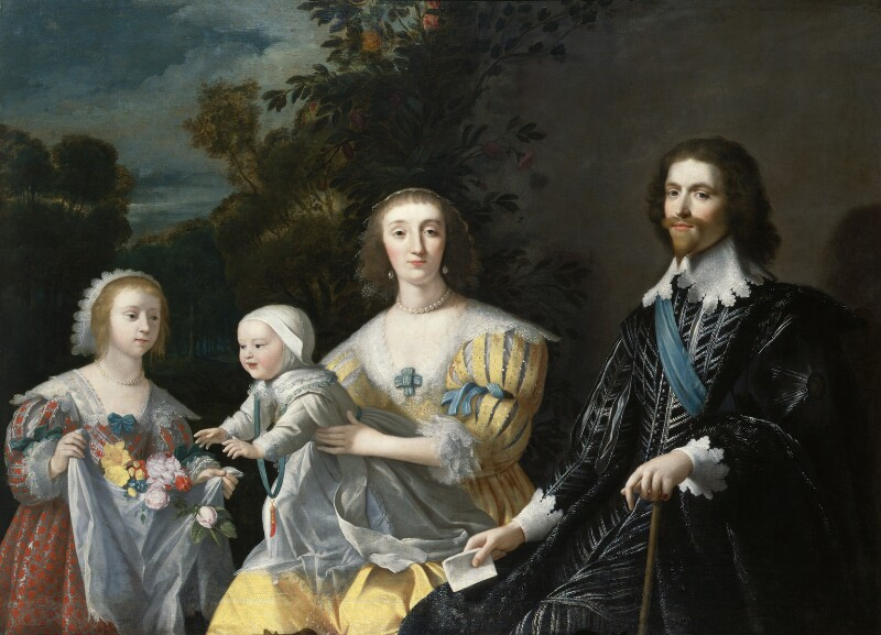 The Duke of Buckingham and his Family, after Gerrit van Honthorst, circa 1628, based on a work of 1628 - NPG 711 - © National Portrait Gallery, London