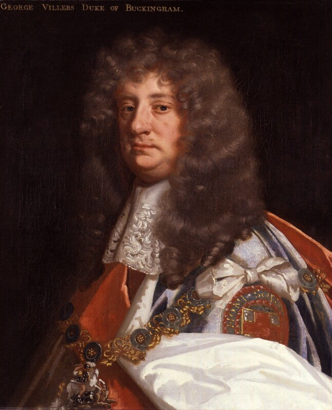 George Villiers, 2nd Duke of Buckingham, by Sir Peter Lely, circa 1675 - NPG 279 - © National Portrait Gallery, London