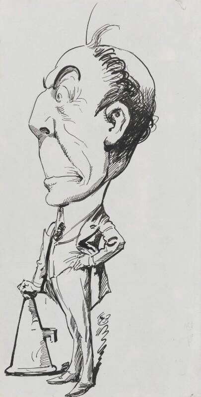 Stanley Owen Buckmaster, 1st Viscount Buckmaster, by Harry Furniss, 1880s-1900s - NPG 3427 - © National Portrait Gallery, London