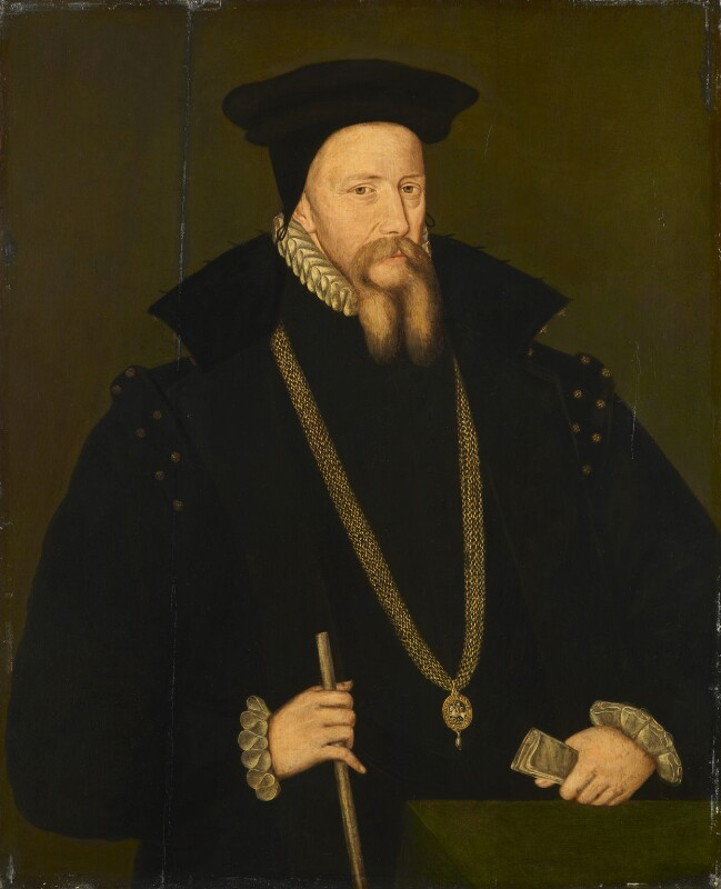 William Cecil, 1st Baron Burghley, by Unknown artist, after 1572 - NPG 715 - © National Portrait Gallery, London