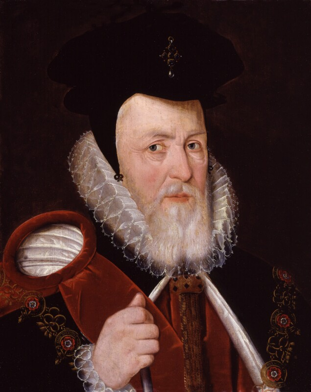 William Cecil, 1st Baron Burghley, by Unknown artist, after circa 1585 - NPG 1905 - © National Portrait Gallery, London