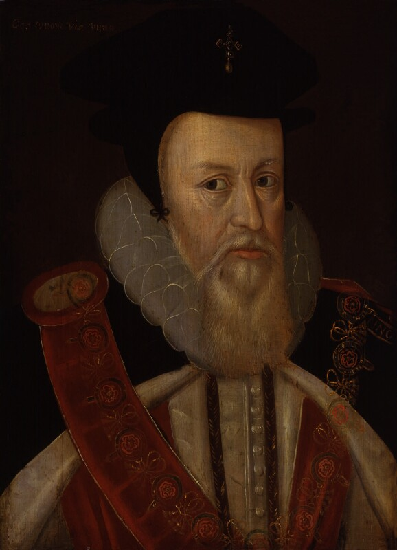 William Cecil, 1st Baron Burghley, by Unknown artist, after circa 1585 - NPG 525 - © National Portrait Gallery, London