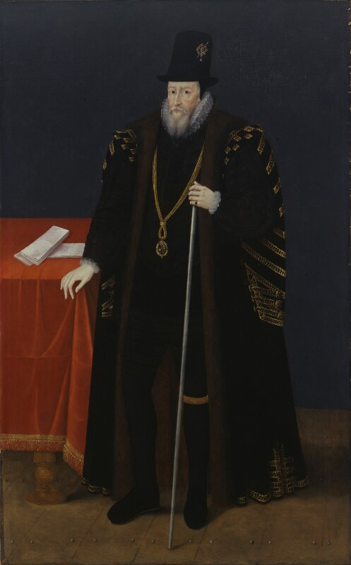William Cecil, 1st Baron Burghley, by Unknown artist, 1590s - NPG 4881 - © National Portrait Gallery, London