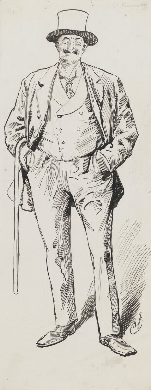 Frederick Burnaby, by Harry Furniss, 1880-1885 - NPG 3428 - © National Portrait Gallery, London