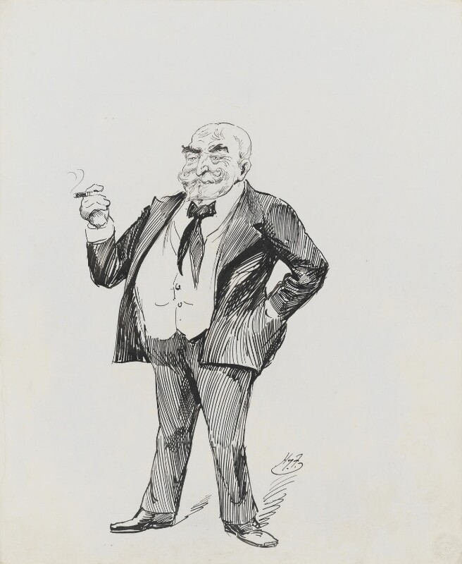 Frank Burnand, by Harry Furniss, 1880s-1900s - NPG 3429 - © National Portrait Gallery, London
