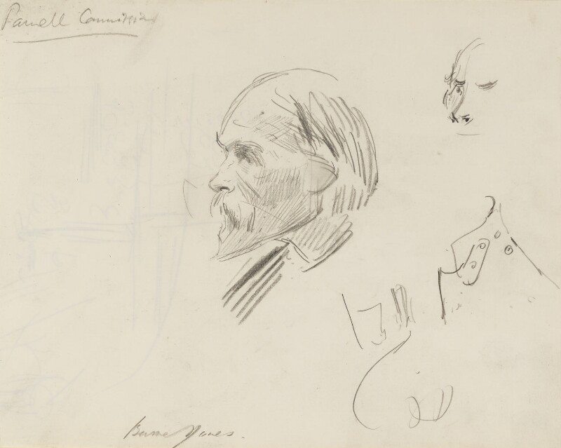 Sir Edward Coley Burne-Jones, 1st Bt, by Sydney Prior Hall, published in The Graphic 20 April 1889 - NPG 2287 - © National Portrait Gallery, London