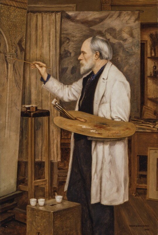 Sir Edward Coley Burne-Jones, 1st Bt, by Sir Philip Burne-Jones, 2nd Bt, 1898 - NPG 1864 - © National Portrait Gallery, London