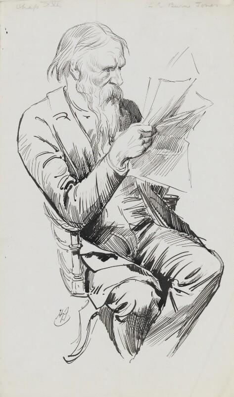 Sir Edward Burne-Jones, by Harry Furniss, 1880s-mid 1890s -NPG 3432 - © National Portrait Gallery, London