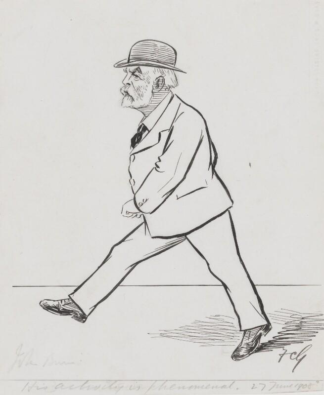 John Elliott Burns, by Sir Francis Carruthers Gould ('F.C.G.'), 1908 - NPG 2826 - © National Portrait Gallery, London