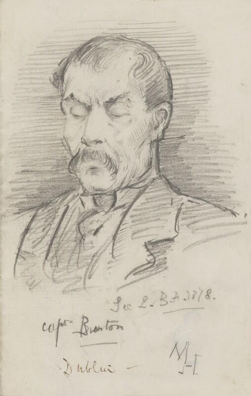 Sir Richard Francis Burton, by Marian Collier (née Huxley), 1878 - NPG 3148 - © National Portrait Gallery, London