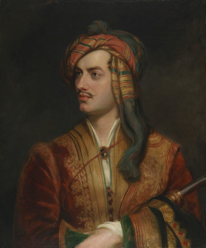 George Gordon Byron, 6th Baron Byron, replica by Thomas Phillips, circa 1835, based on a work of 1813 - NPG 142 - © National Portrait Gallery, London