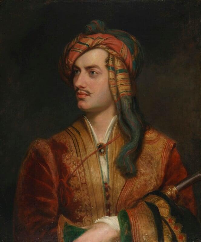 George Gordon Byron, 6th Baron Byron, replica by Thomas Phillips, circa 1835, based on a work of 1813 - NPG 142 - © National Portrait Gallery, London