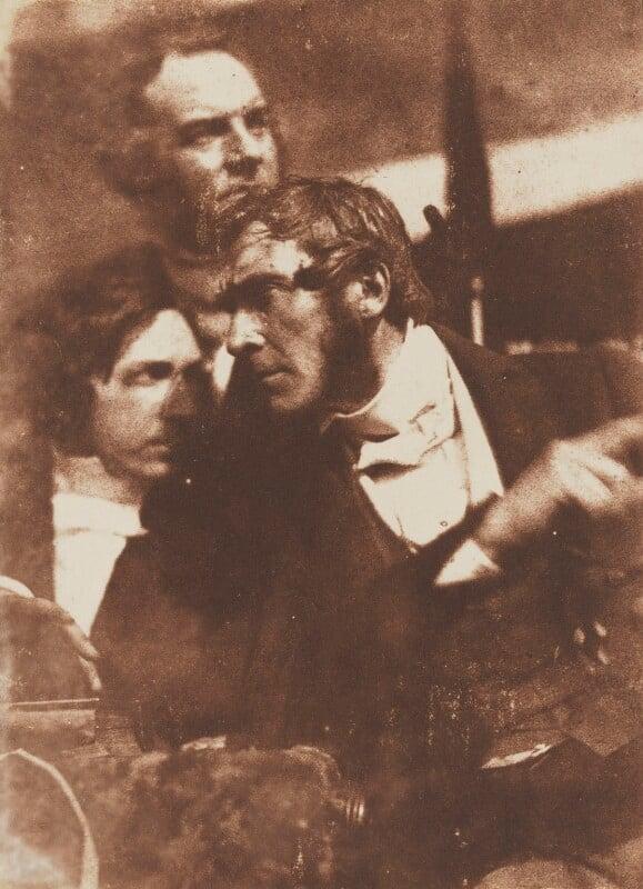 Graham Fyvie, Robert Cadell and Robert Cunningham Graham Spiers, by David Octavius Hill, and  Robert Adamson, 1843-1848 - NPG P6(139) - © National Portrait Gallery, London