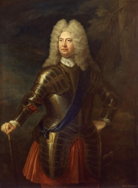 William Cadogan, 1st Earl Cadogan, attributed to Unknown artist, after 1716 - NPG 18 - © National Portrait Gallery, London