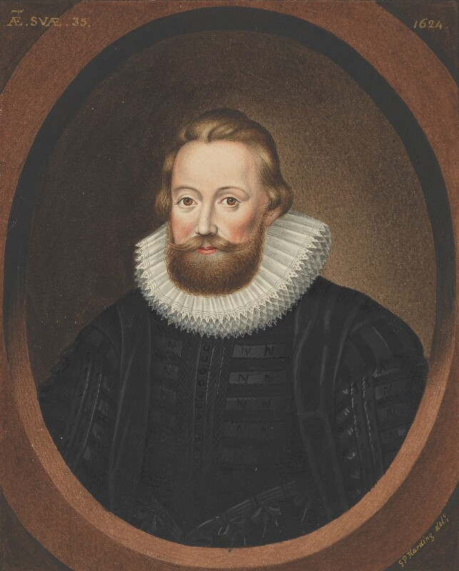 Sir Charles Caesar, copy by George Perfect Harding, after  Unknown artist, 19th century, based on a work of 1624 - NPG 2402 - © National Portrait Gallery, London