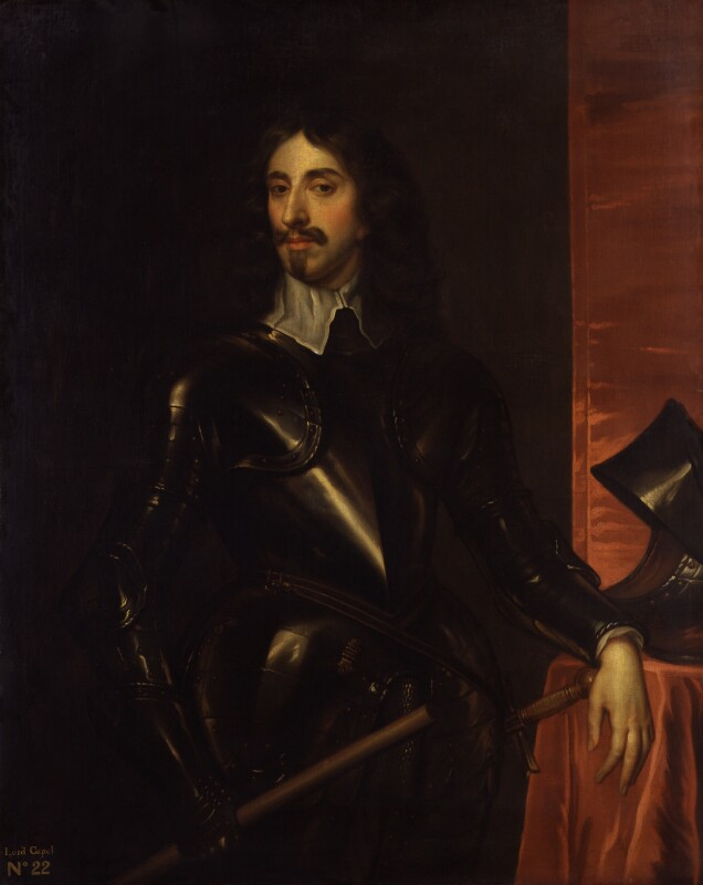 Arthur Capel, 1st Baron Capel, by Henry Peart the Elder, after  Unknown artist, circa 1660, based on a work of circa 1645 - NPG 1520 - © National Portrait Gallery, London