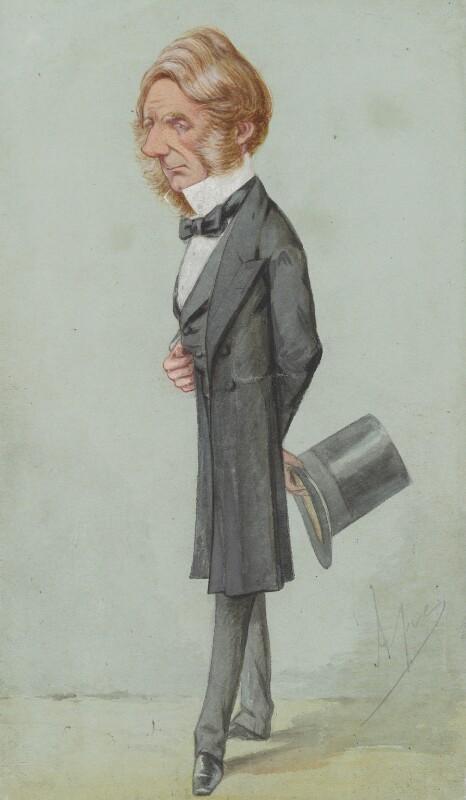 Edward Cardwell, Viscount Cardwell, by Carlo Pellegrini, published in Vanity Fair 3 April 1869 - NPG 2569 - © National Portrait Gallery, London