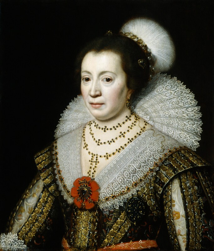 Anne, Lady Carleton, studio of Michiel Jansz. van Miereveldt, circa 1625 - NPG 111 - © National Portrait Gallery, London