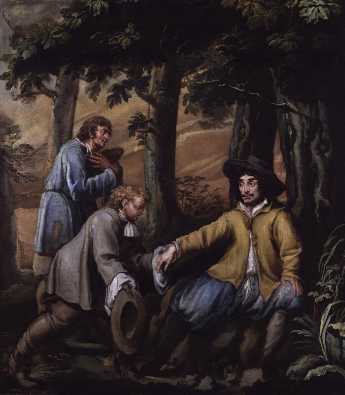King Charles II in Boscobel Wood, by Isaac Fuller, 1660s? - NPG 5248 - © National Portrait Gallery, London