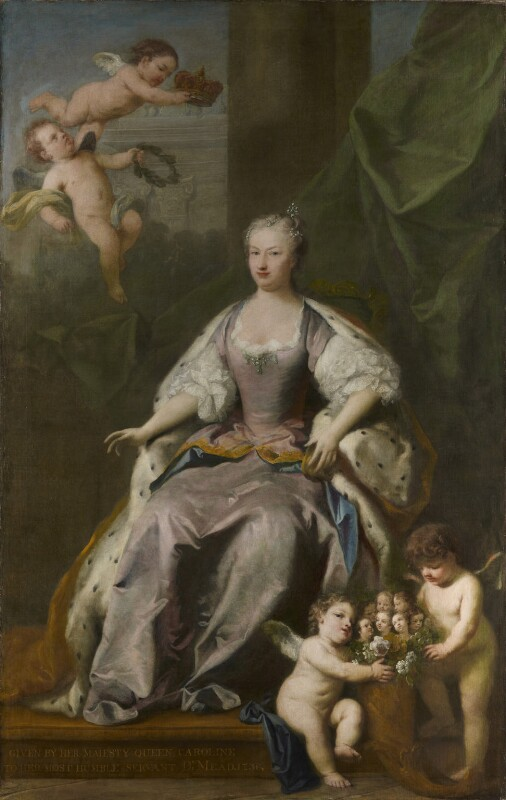 Caroline Wilhelmina of Brandenburg-Ansbach, by Jacopo Amigoni, 1735 - NPG 4332 - © National Portrait Gallery, London