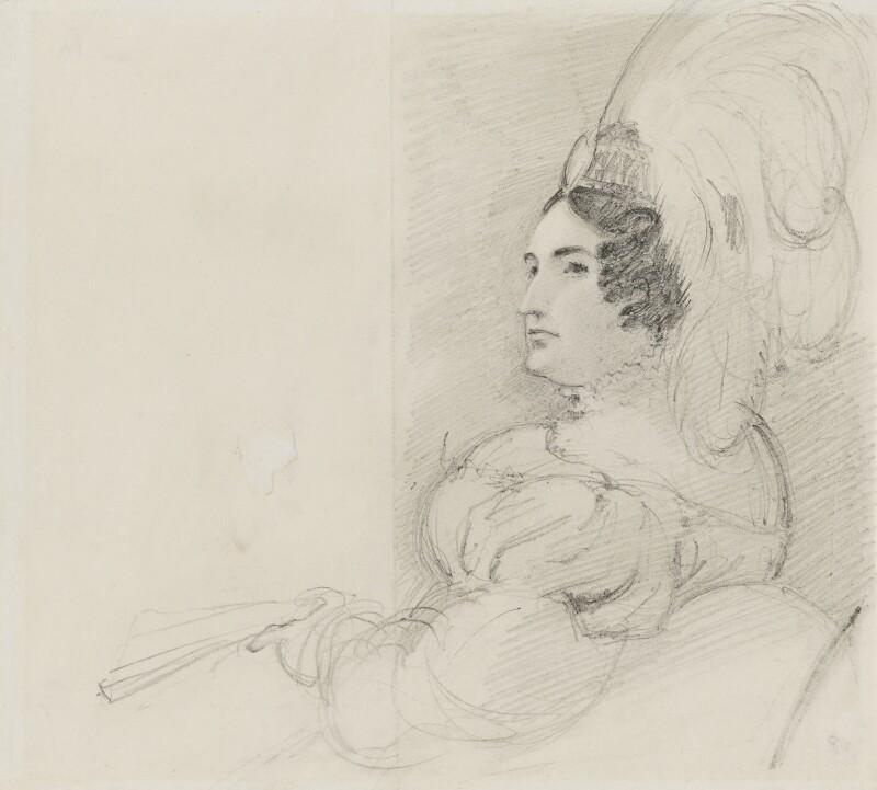 Caroline Amelia Elizabeth of Brunswick, by Sir George Hayter, 1820 - NPG 1695(a) - © National Portrait Gallery, London