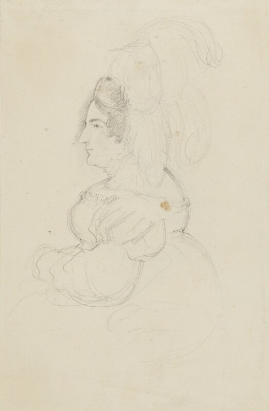 Caroline Amelia Elizabeth of Brunswick, by Sir George Hayter, circa 1820 - NPG 2662(2) - © National Portrait Gallery, London