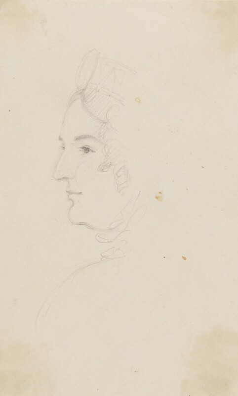 Caroline Amelia Elizabeth of Brunswick, by Sir George Hayter, circa 1820 - NPG 2662(4) - © National Portrait Gallery, London