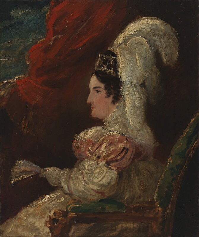 Caroline Amelia Elizabeth of Brunswick, by Sir George Hayter, circa 1820 - NPG 4940 - © National Portrait Gallery, London