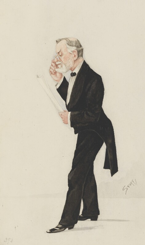 Robert Brudenell Carter, by Harold Wright ('Stuff'), published in Vanity Fair 8 April 1892 -NPG 3298 - © National Portrait Gallery, London