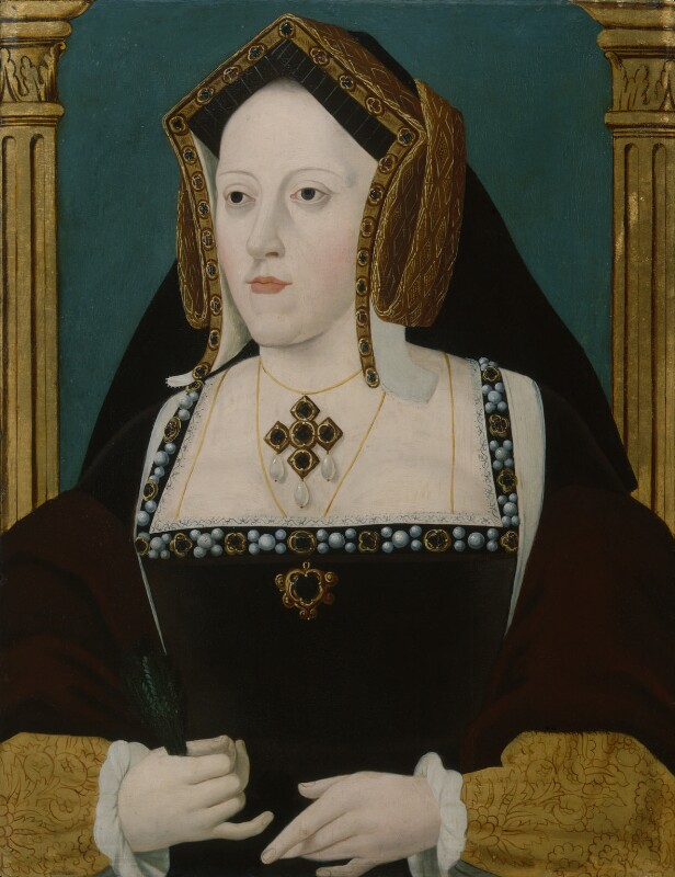 Katherine of Aragon, by Unknown artist, early 18th century - NPG 163 - © National Portrait Gallery, London