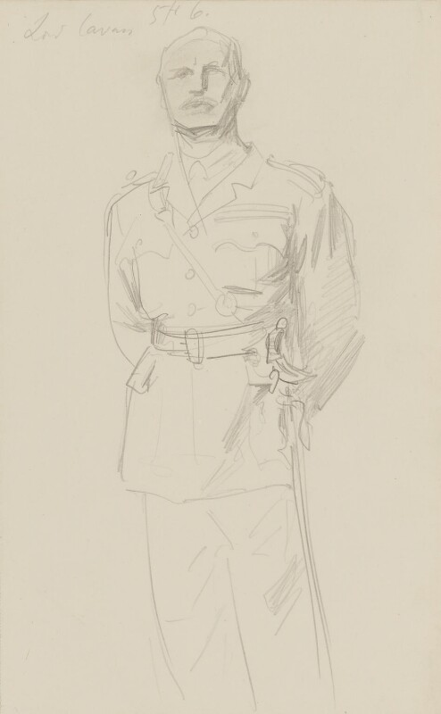 (Frederic) Rudolph Lambart, 10th Earl of Cavan, by John Singer Sargent, circa 1922 - NPG 2908(3) - © National Portrait Gallery, London