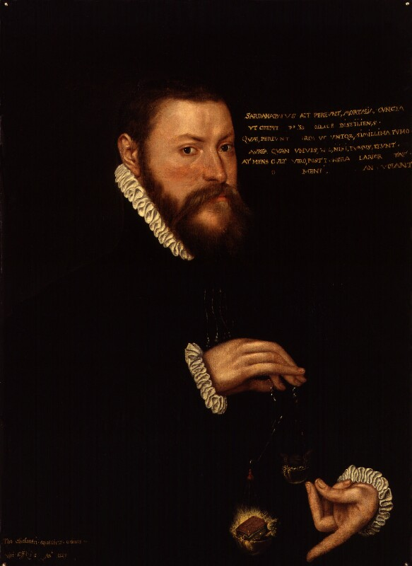 Sir Thomas Chaloner, after Unknown artist, possibly 17th century, based on a work of 1559 - NPG 1274 - © National Portrait Gallery, London