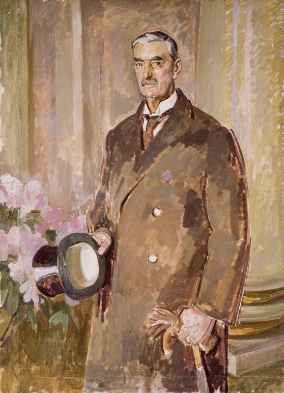 Neville Chamberlain, by Henry Lamb, circa 1939 - NPG 4279 - © National Portrait Gallery, London
